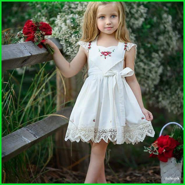 Cute baby girl with red roses Dp